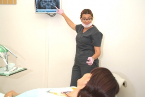 Muestra de ortopantomografía realizada al paciente